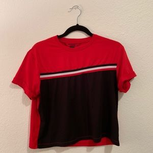Red/Black Stretchy Stripe Shirt